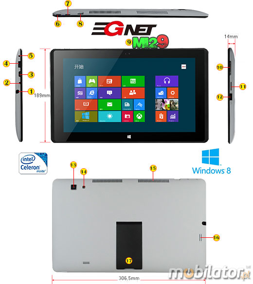 Tablet 3GNet MI29 Windows 8