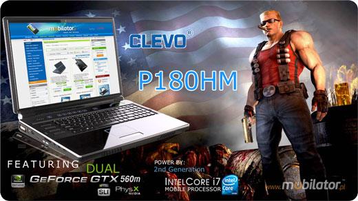 clevo sager 8180 P180HM mobilator laptop najmocniejszy na świecie dystrybutor umpc projektowanie auto cad 3d max autodesk cad baner logo