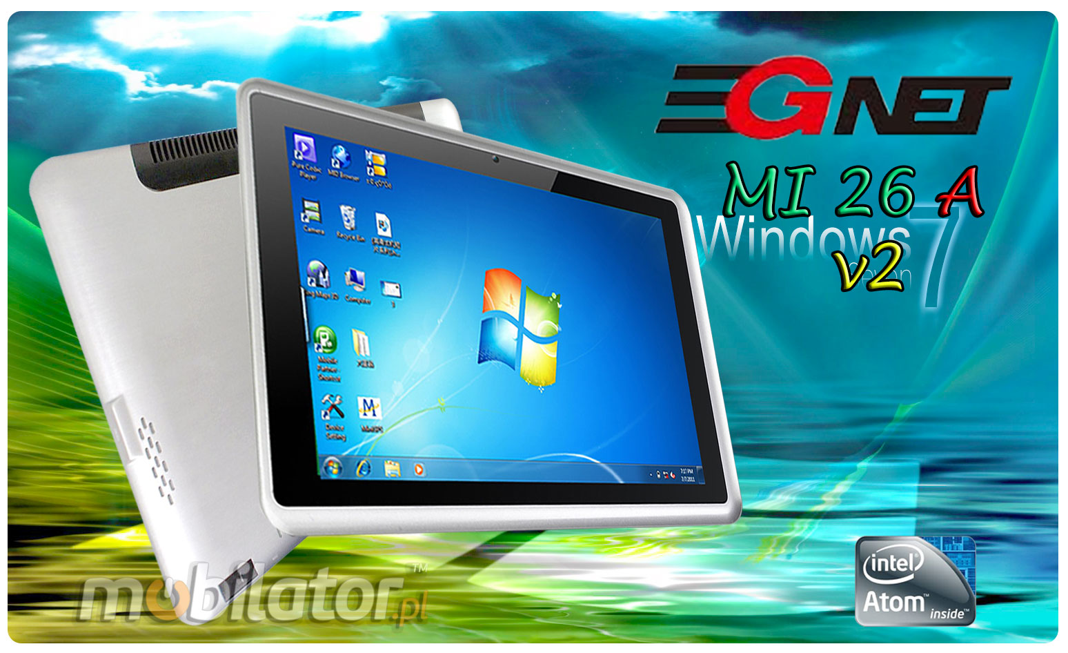 Tablet 3Gnet MI26A Windows 7