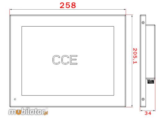 Młodzieńczy 3x Przemysłowy Monitor Dotykowy - CCETM10-IP65 EA05