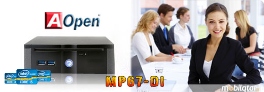 MiniPC MP67-DI AOpen Procesor Intel Core i3 i5 i7  2TB HDD 512GB SSD Mobilator.pl