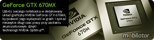Clevo P370EM nVidia GeForce GTX 670MX