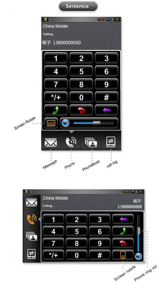 xpPHONE interface